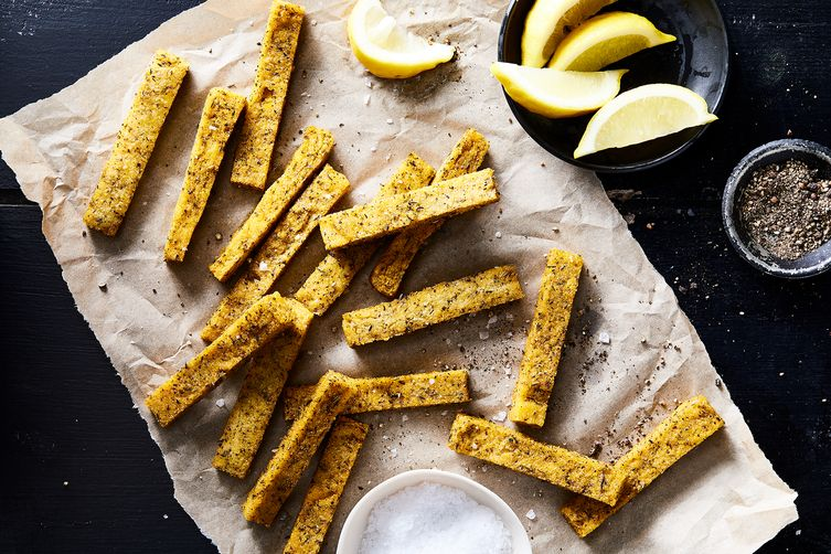 "Herb & Lemon Polenta ""Chips"" (""Fries"")"