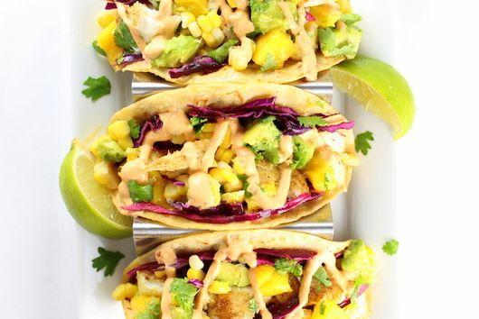 Fish Tacos with Mango Guacamole