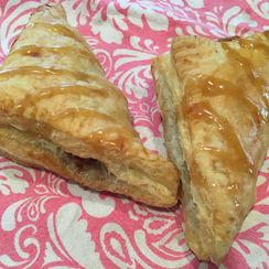 Bananas Foster Turnovers with Brown Sugar Glaze