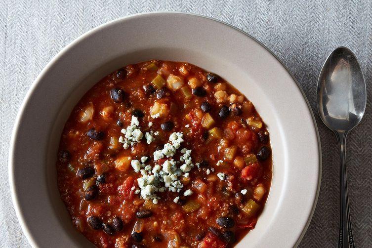 Buffalo-Style Quinoa Chili on Food52