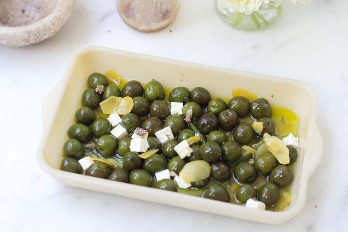 Gin Marinated Olives