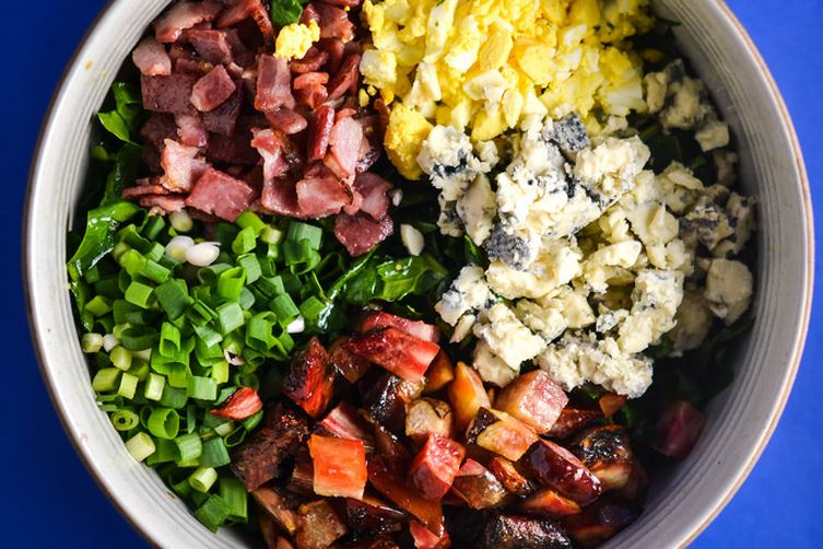 Spinach, Beet, Bacon And Blue Cheese Salad