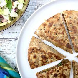 Keema Matar Quesadillas- Spicy Minced Meat & Peas Quesadillas