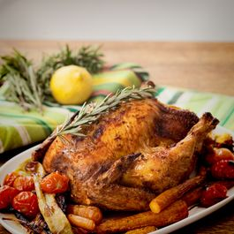 Roast Chicken with Apricot & Macadamia Stuffing