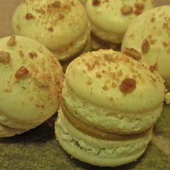 Candied Peanut Butter Macarons