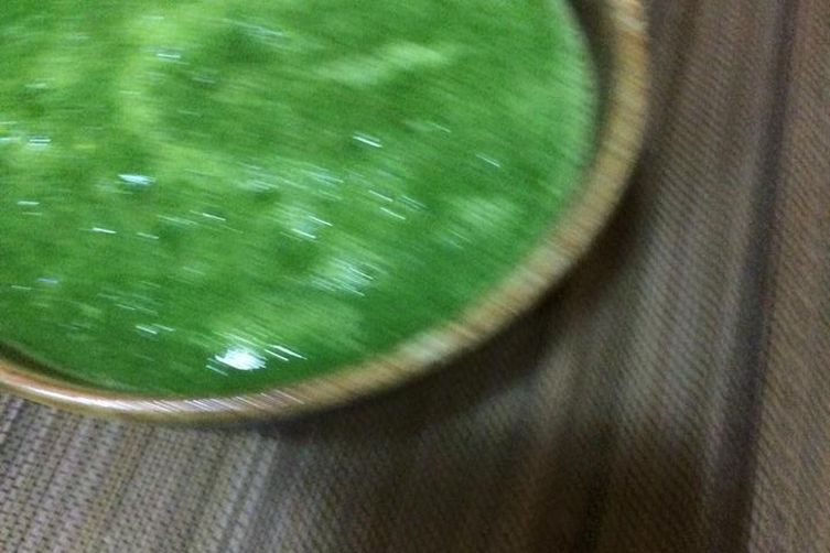 Watercress soup with walnuts