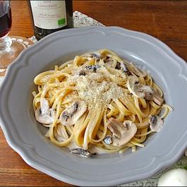 Creamy Mushroom Linguini