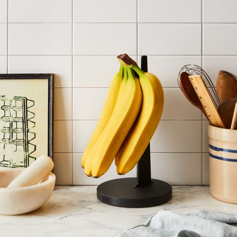 Matte Black Natural Fiber Banana Holder