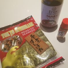 Soy-sesame nori chips with togarashi