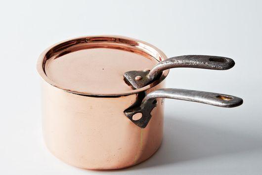 Vintage Copper English Saucepan, Mid 19th Century #2 [old]