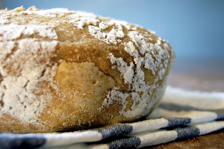 No-Knead Spelt Bean Bread