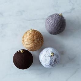 4 Wrapped Christmas Ornaments