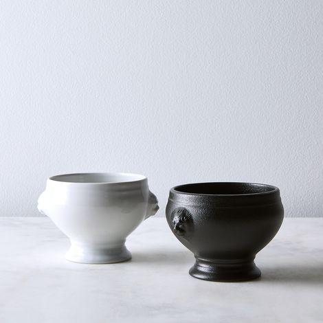 French Porcelain Lion Head Soup Bowl (Set of 4)