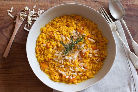 Butternut Squash and Saffron Risotto (Risotto alla Zucca e Zafferano)