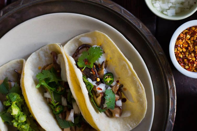 Soft Mushroom Tacos