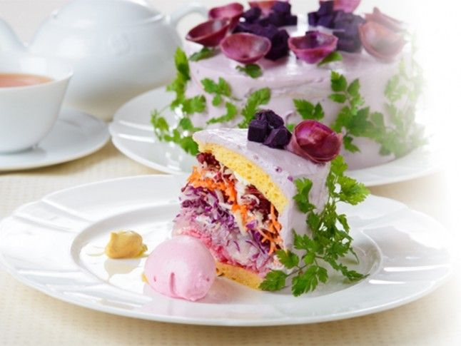 It could be good—if you swapped the soybean cake for sponge cake, the veg for chocolate, and the thing on the side for ice cream...