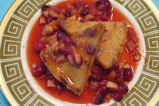 Breakfast Polenta with Winter Fruit Compote