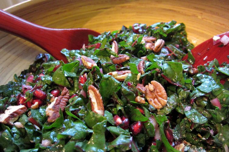 Happy Holidays Chard Salad