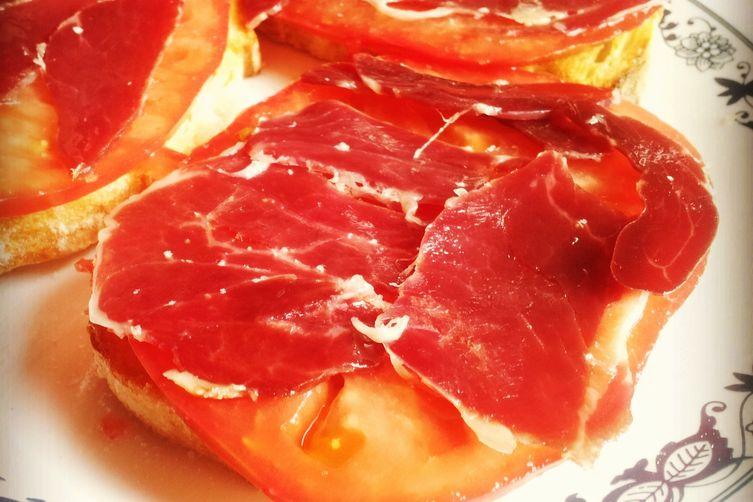 Tostadas de jamón ibérico