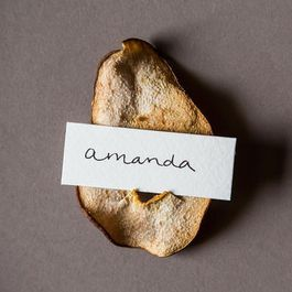 The DIY Place Card Holder: Cocoa Pear Crisps