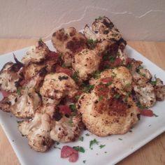 Cauliflower with black garlic and sherry