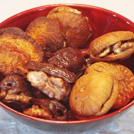 Cosy Wrapped Walnuts in Dry Fruits