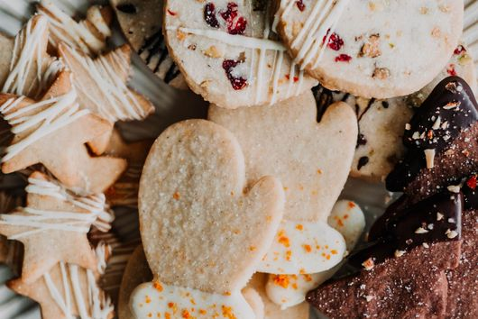 White Chocolate Cranberry Pistachio Shortbread from The Sweet and Simple Kitchen