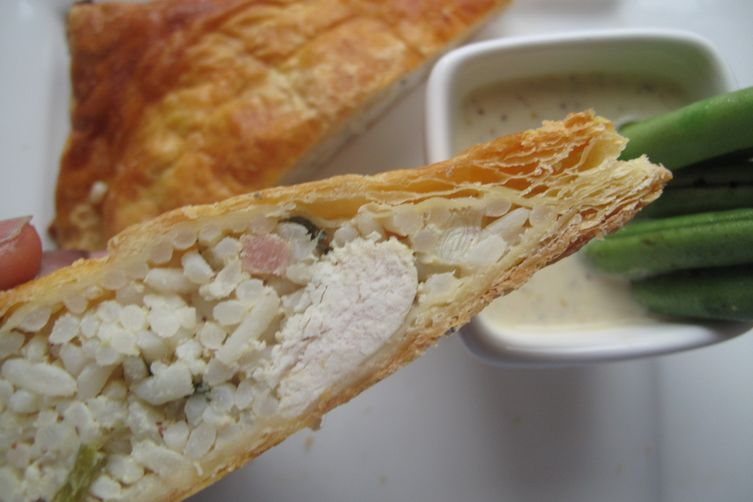 Chicken and Mustard Puff Pockets