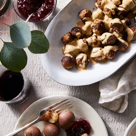 Swedish meatballs and cream sauce by Karen