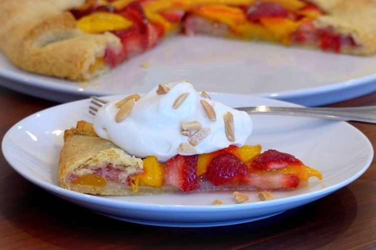 Almond Crusted Strawberry Mango Galette