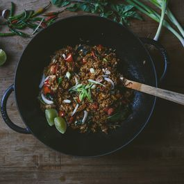 Thai Basil Fried Rice with Tofu