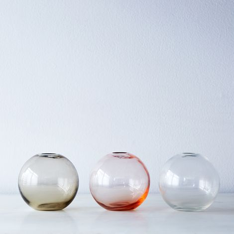 Spherical Glass Bud Vase