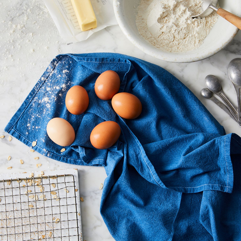 Indigo Blue and White Shibori Kitchen Towel Dark Stars