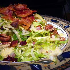 Apple and Brussels Sprout Salad