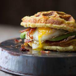 The Ultimate Cauliflower Waffle Breakfast Sandwich