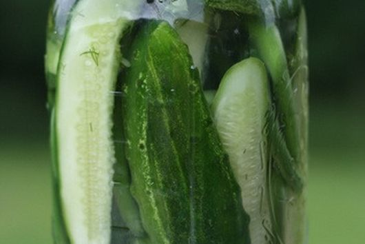 Lacto-Fermented Pickles with Garlic Scapes