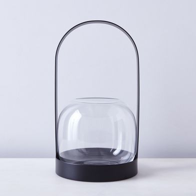 Black Steel Carrie Lantern