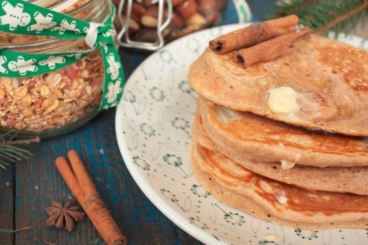 Holiday Gingerbread Pancakes