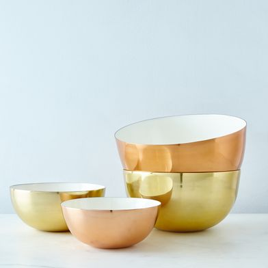 [OLD] Copper, Brass, and Enamel Louise Bowls