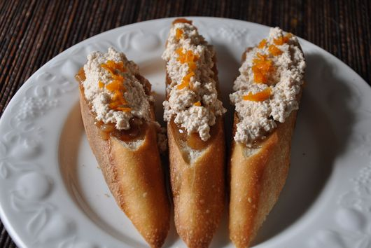 Sweet Almond Chhena Crostini