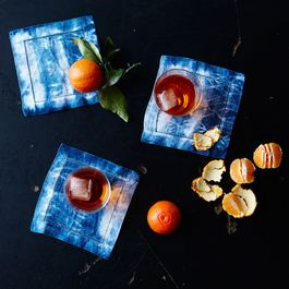 Shibori-Dyed Cocktail Napkins (Set of 4)