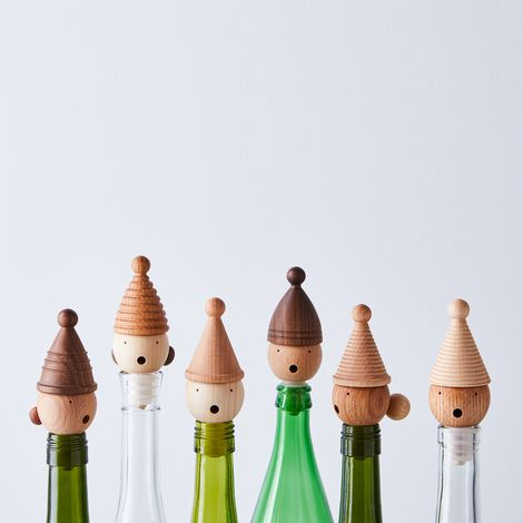 Handcrafted Wooden Gnome Wine Stopper