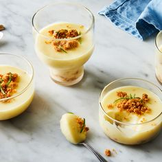 Lime Posset With Graham Cracker Streusel