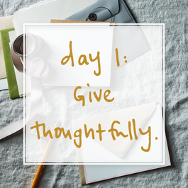 30 Days of Thoughtful Giving by Holly
