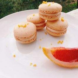 Blood Orange Macarons with Blood Orange Buttercream Filling: