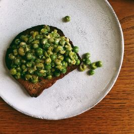 Smashed Tahini Peas on Toast