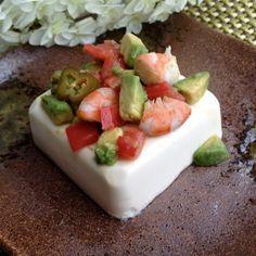 Quick Avocado Jalapeño Balsamic Shrimp on Tofu