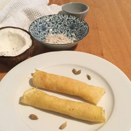 Crepes with coconut filling