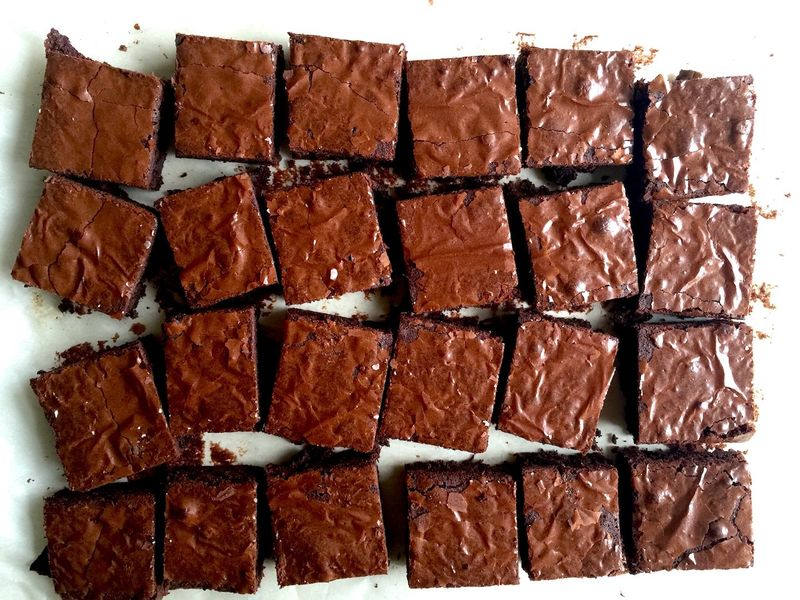 Dark chocolate cassava flour brownies