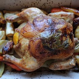 Lemon and Onion Roast or Roasted Chicken